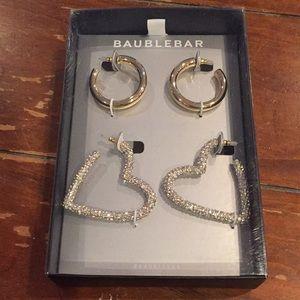 Baublebar hoop earring set